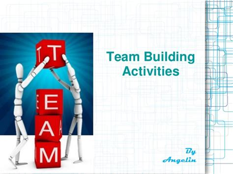 team building powerpoint template team building activities