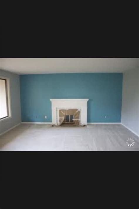 blue accent wall blue accent wall living room renovation pinterest
