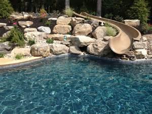 Garden Bench Teak Stroud Township Salt Water Pool With Spa Sunshelf Slide
