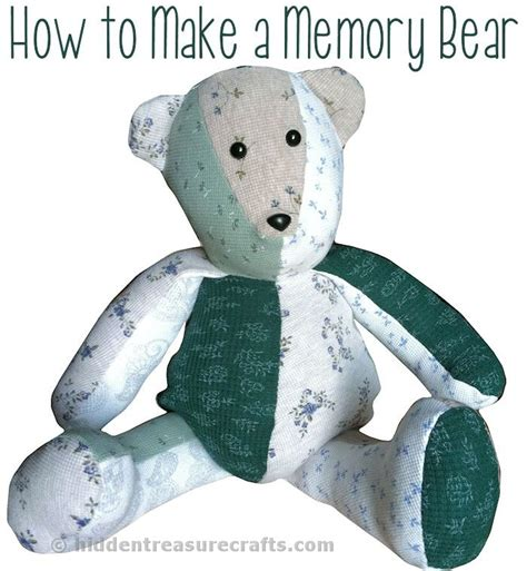 free memory bear pattern how to make a memory bear hidden treasure crafts and