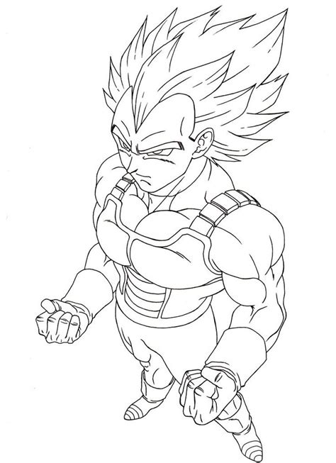 dragon ball z coloring pages vegeta super saiyan vegeta super saiyan 3 free colouring pages