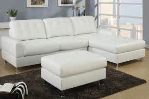 white leather sectional sofa with chaise modern classic white bonded leather sectional sofa