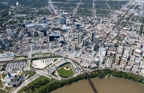 aerial photo winnipeg manitoba
