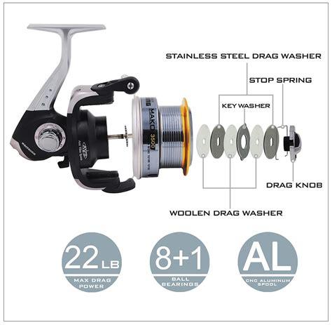 Kastking Reel Pancing Mako2500 8 Bearing kastking mako 3500 wide spool rock solid 22lbs max drag spinning fishing reel ebay