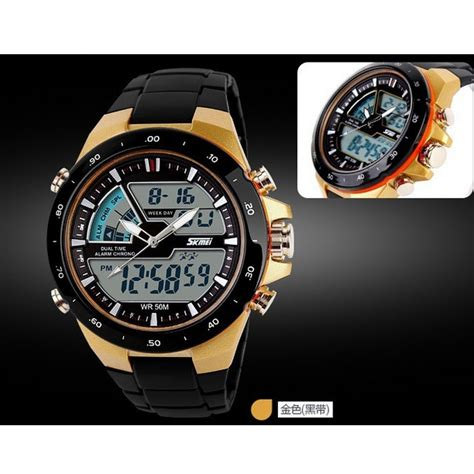 Skmei Jam Tangan Digital Pria Dg1140 Golden skmei jam tangan digital analog pria ad1016 golden
