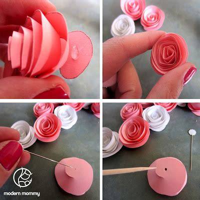 How To Make Rolled Paper Flowers - modern make it monday paper bouquet