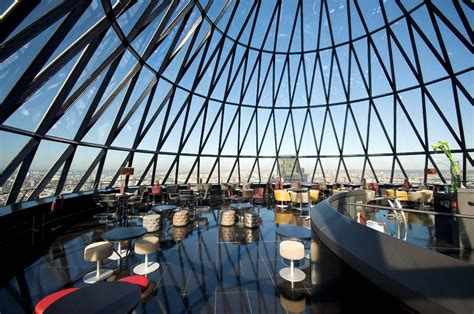 bar at the top of the gherkin london s searcys at the gherkin celebrates 10 years pursuitist