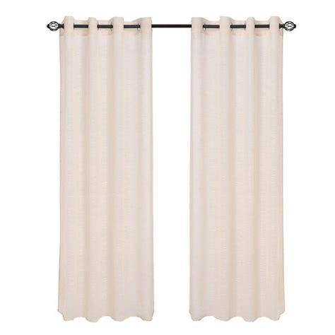 curtain panel lengths lavish home beige mia jacquard grommet curtain panel 84