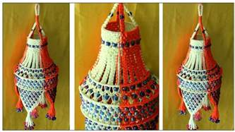 Handmade Jhumar - of easy handmade macrame jhumar wall hanging