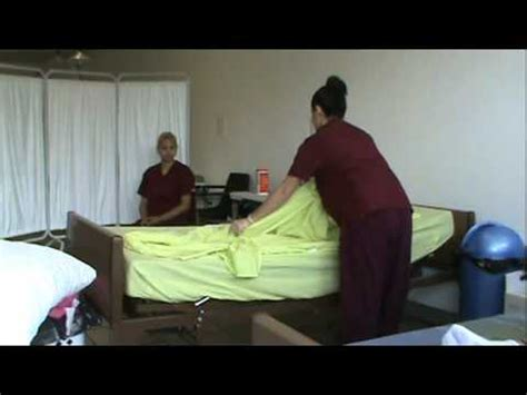 cna and nursing skill training making an occupied bed partial bed bath cna skills how to save money and do it