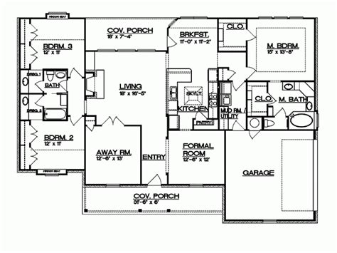 House Plans 6 Bedrooms by Eplans Ranch House Plan Texas Hill Country Split Bedroom
