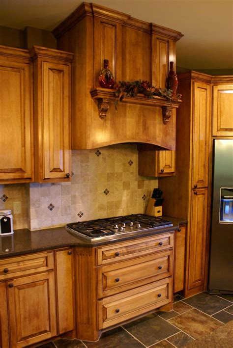 handmade glazed maple kitchen by bergstrom cabinets inc