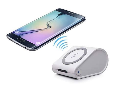 Power Bank Wireless Charger the qi enabled wireless charger with integrated power bank