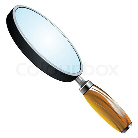 3d Magnifying Glass 3d magnifying glass stock vector colourbox