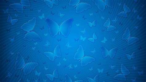 Download Butterfly Background Blue Pattern 4K Wallpaper