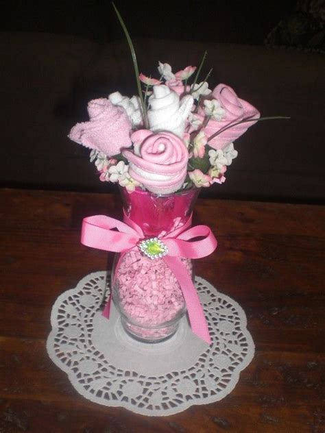 Baby Shower Washcloth Bouquet by Pink And Brown Bootie Washcloth Bouquets Baby Shower