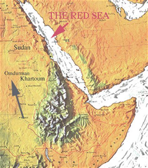 omdurman map map showing omdurman and sea