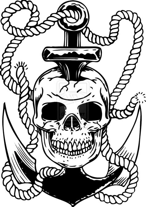 pirate pin up tattoo designs pirate pinup and anchor design