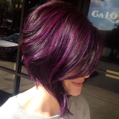 hairstyles purple highlights purple highlights for summer pretty designs