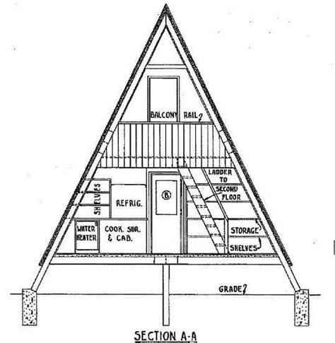 A Frame House Plans With Loft A Frame House Plan With Deck