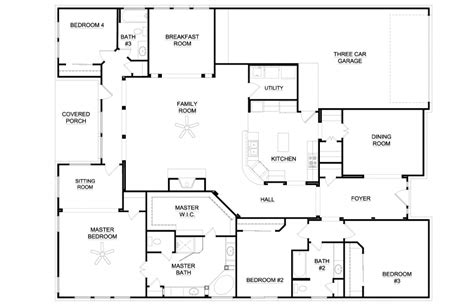 Simple 5 Bedroom House Plans by Simple 5 Bedroom House Plans Homes Floor Plans