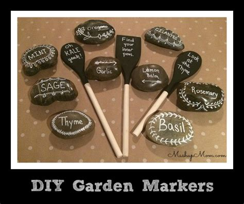 diy garden markers gardening puns  lettuce