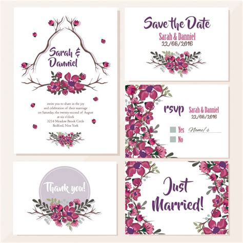 Wedding Invitation Design Free by Wedding Invitations Floral Design Vector Free