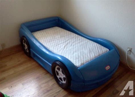 little tikes racing car toddler bed reno obo for sale