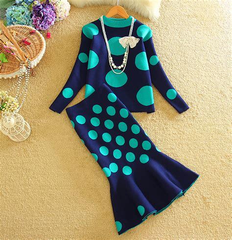 Setelan Mermaid Set Sk0277 buy grosir polka dot sweater untuk wanita from china polka dot sweater untuk wanita
