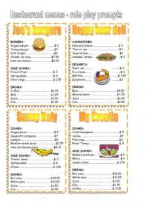 free printable restaurant menu templates 4 best images of free printable template restaurant menus