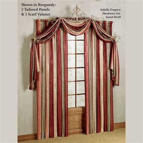 burgundy accent wall double window scarf ideas scarf ombre semi sheer scarf valance and window treatments
