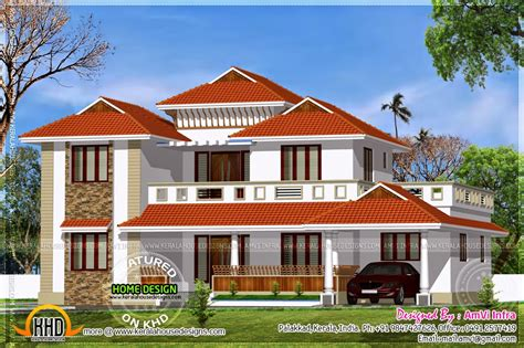 traditional home with modern elements home kerala plans