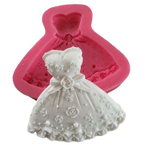 Cetakan Fondant Bentuk 3d rok putri gaun bentuk cetakan kue silikon fondant kue