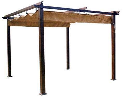 tetto gazebo gazebo con tetto semovente e struttura in metallo pesante
