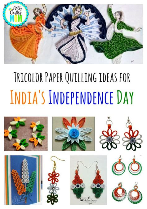 Handmade Independence Day Cards - tricolor paper quilling ideas for india s independence day