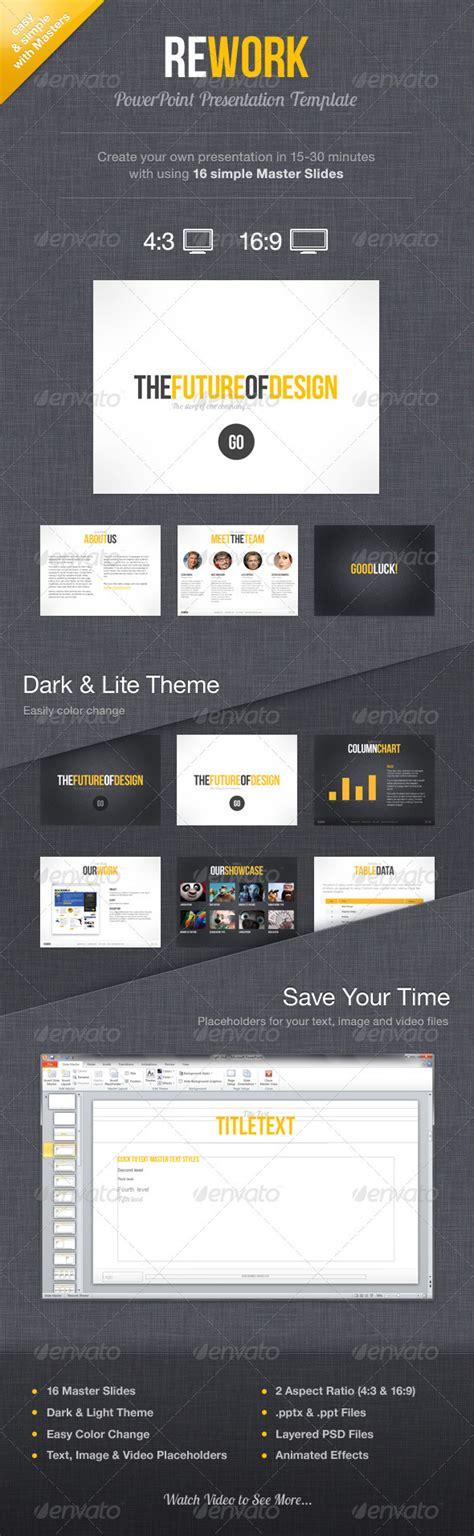 rework template rework powerpoint presentation template graphicriver