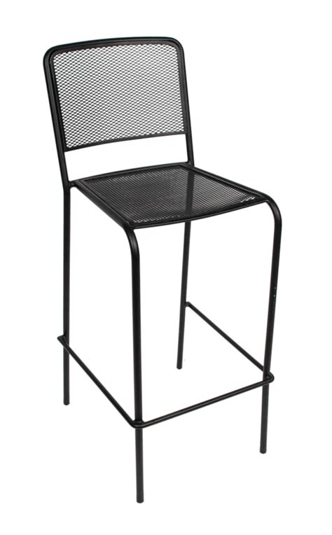 indoor outdoor bar stool w galvanized steel micro mesh