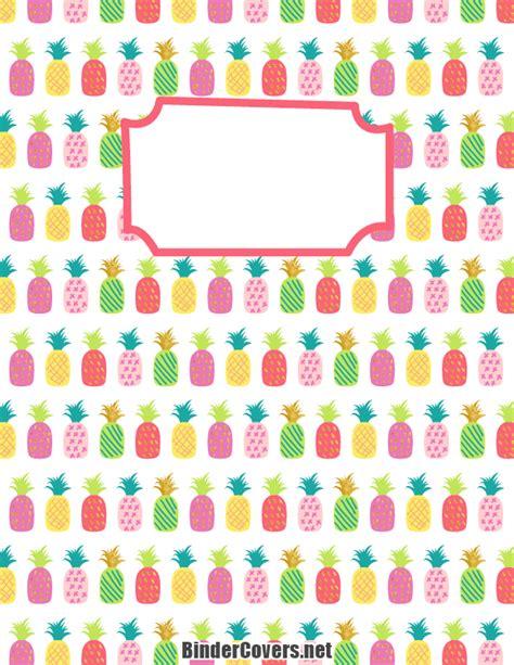 printable binder covers to colour printable pineapple binder cover