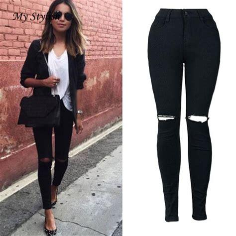 buy cheap new womens cut cheap women jeans 2017 new fashion women slim pencil