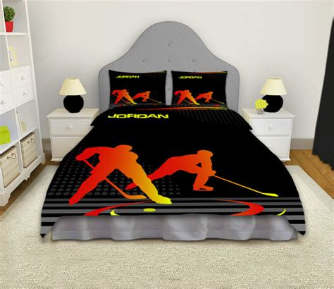 hockey comforter hockey bedding hockey by eloquentinnovations