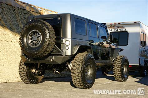 badass 2 door jeep 2012 sema rigid industries black 4 door jeep jk wrangler