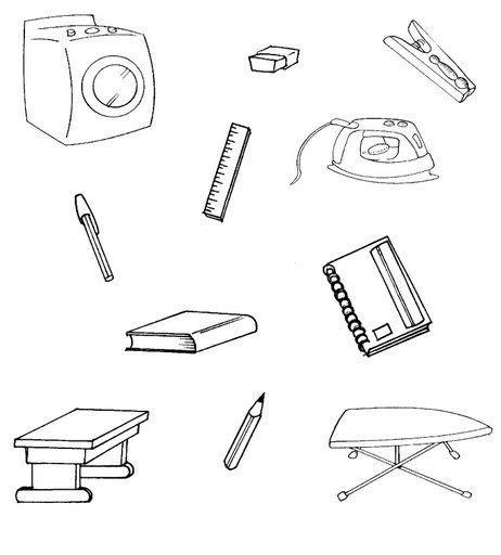 imagenes de los utiles escolares para pintar dibujos de utiles escolares para colorear