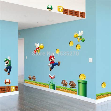 home decor on sale on sale new super mario bros pvc removable wall sticker