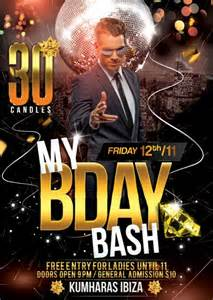 birthday bash flyer template that s design tds