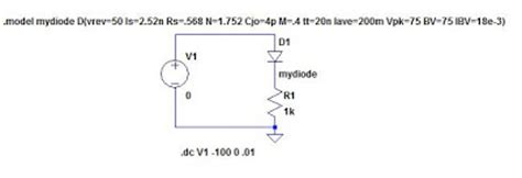 diode characteristics in ltspice eastham modeling diode breakdown voltages in ltspice