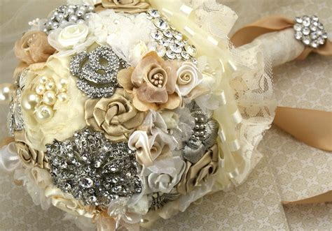 Handmade Wedding Bouquet - pearl wedding accessories handmade etsy wedding finds