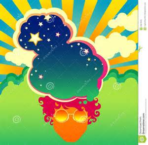 psychedelic poster template stock vector image 40879559