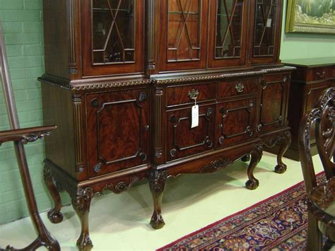 claw four door mahogany dining room china cabinet