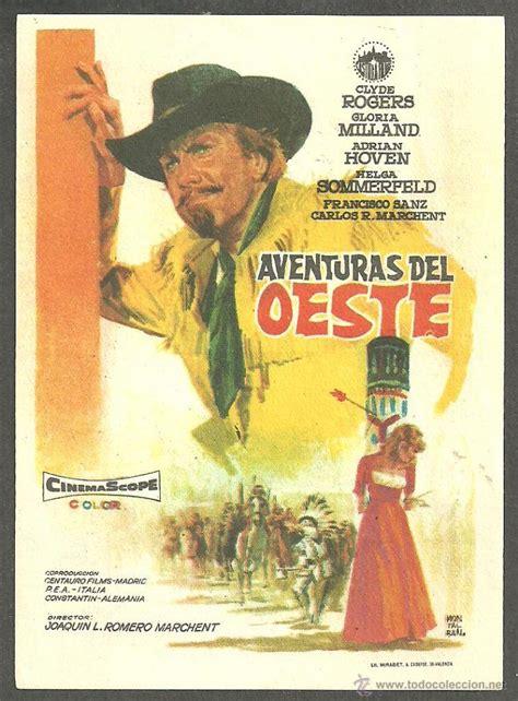 aventuras disfruta del cine folleto de mano aventuras del oeste imperia comprar aventura folletos de mano de