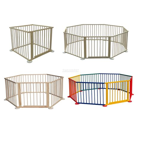 play pen new childrens 1856695247 baby child children wooden foldable playpen play pen room divider heavy duty new ebay